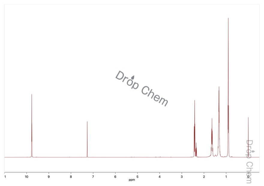ヘキサナールの1HNMRスペクトル