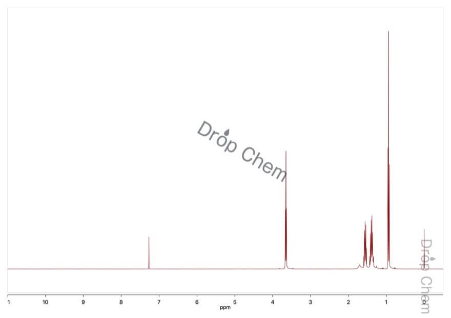 1-ブタノールの1HNMRスペクトル