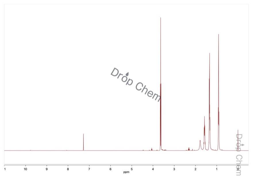 1-ペンタノールの1HNMRスペクトル