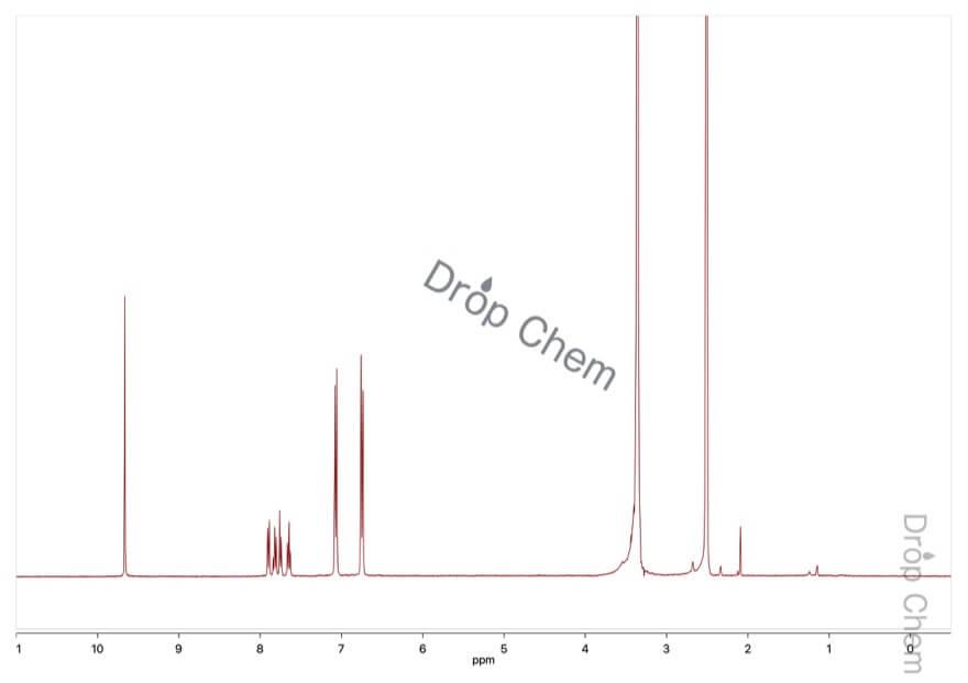 フェノールフタレインの1HNMRスペクトル