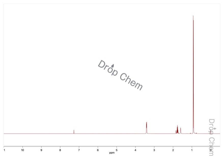 2-メチル-1-プロパノールの1HNMRスペクトル