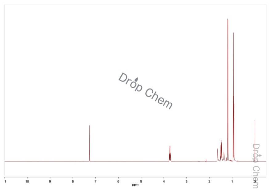 2-ブタノールの1HNMRスペクトル