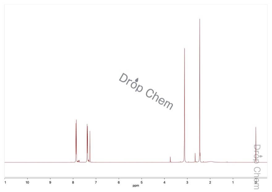 N-メチル-N-ニトロソ-p-トルエンスルホンアミドの1HNMRスペクトル