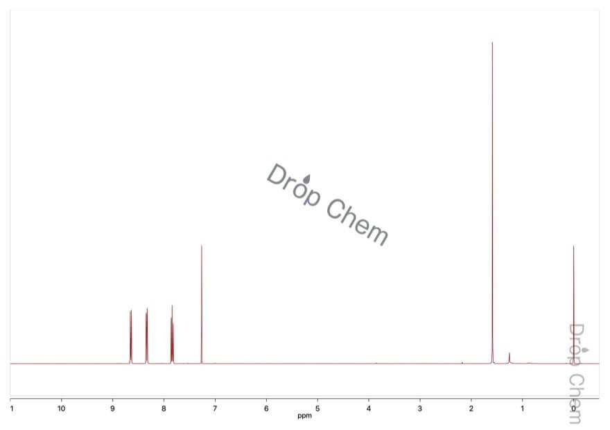 1,8-ナフタル酸無水物の1HNMRスペクトル
