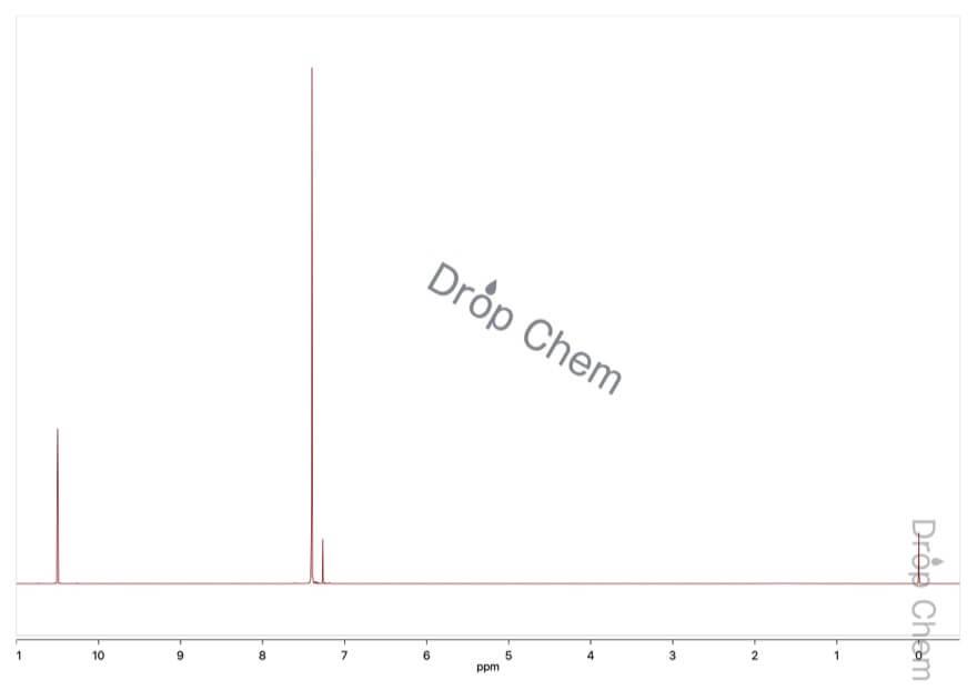 2,6-ジクロロベンズアルデヒドの1HNMRスペクトル