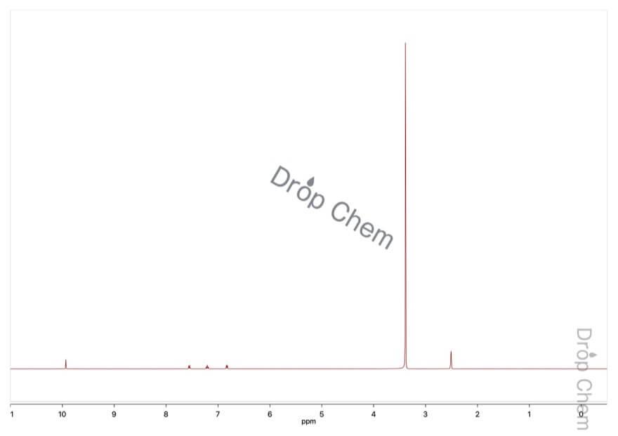 1,5-ジヒドロキシナフタレンの1HNMRスペクトル