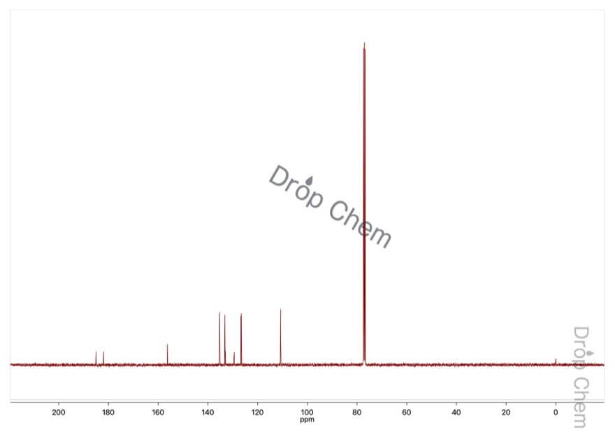 2-ヒドロキシ-1,4-ナフトキノンの13CNMRスペクトル