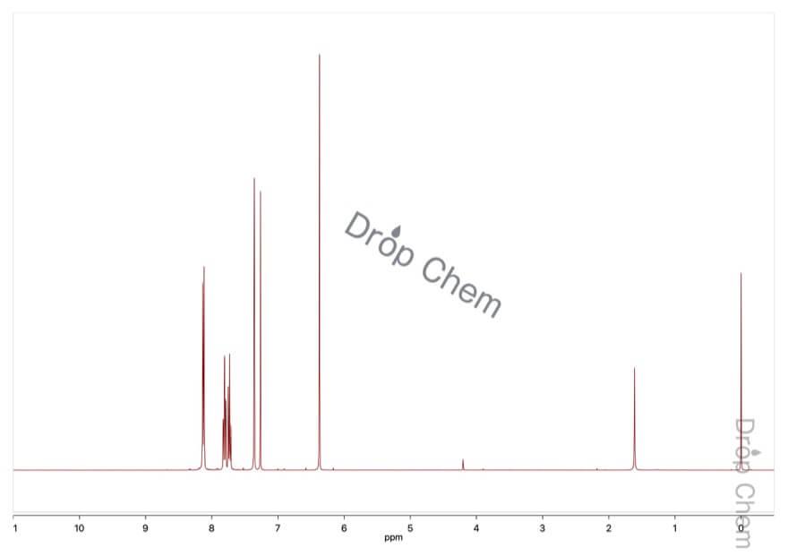 2-ヒドロキシ-1,4-ナフトキノンの1HNMRスペクトル