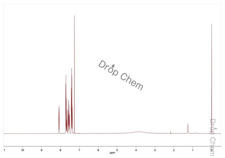 2-ベンゾイル安息香酸の1HNMRスペクトル