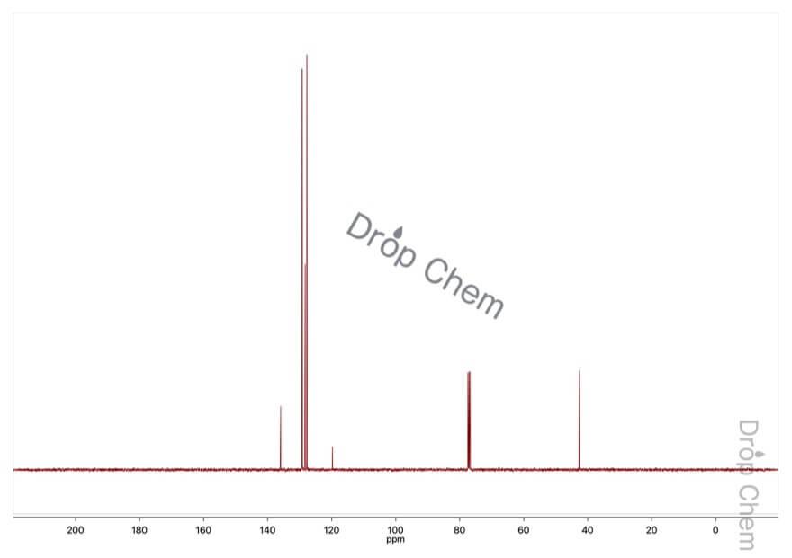 ジフェニルアセトニトリルの13CNMRスペクトル