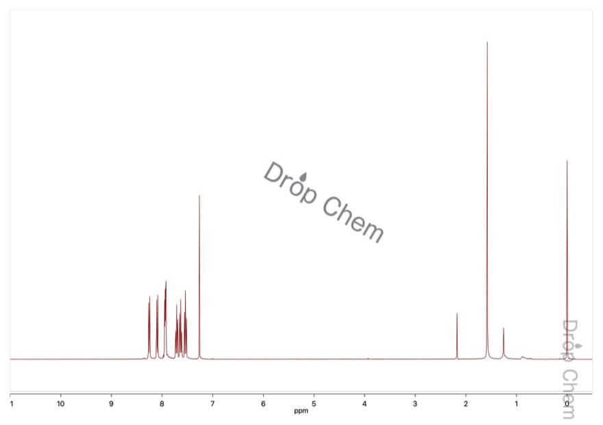 1-ナフトニトリルの1HNMRスペクトル