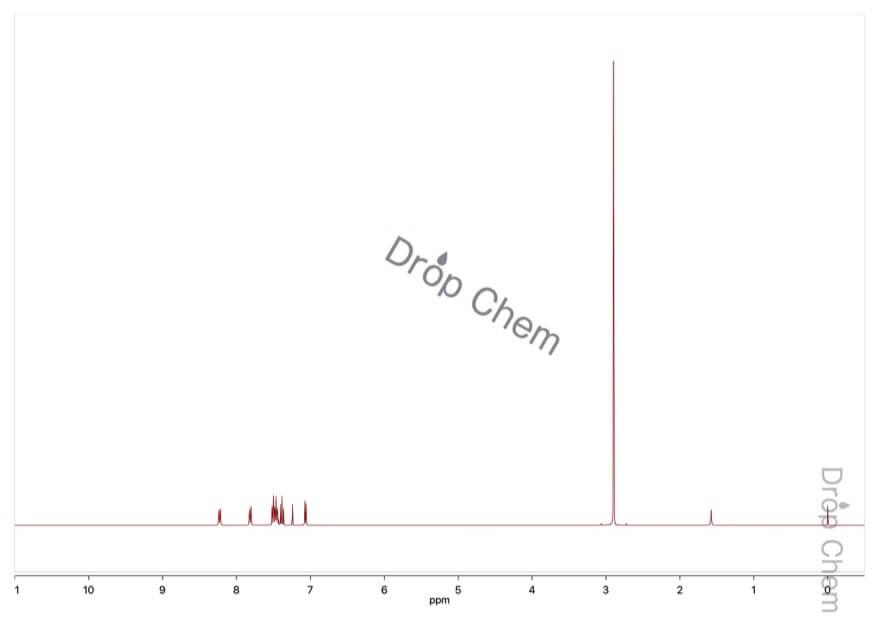 N,N-ジメチル-1-ナフチルアミンの1HNMRスペクトル
