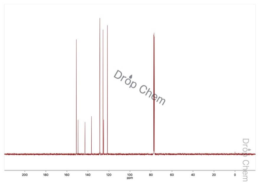 4,7-ジクロロキノリンの13CNMRスペクトル