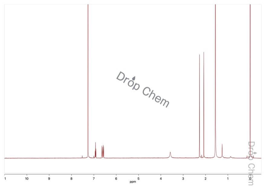 2,3-ジメチルアニリンの1HNMRスペクトル