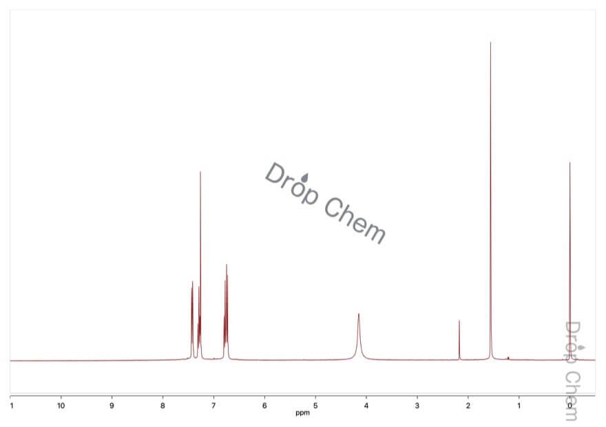 2-アミノベンゾトリフルオリドの1HNMRスペクトル