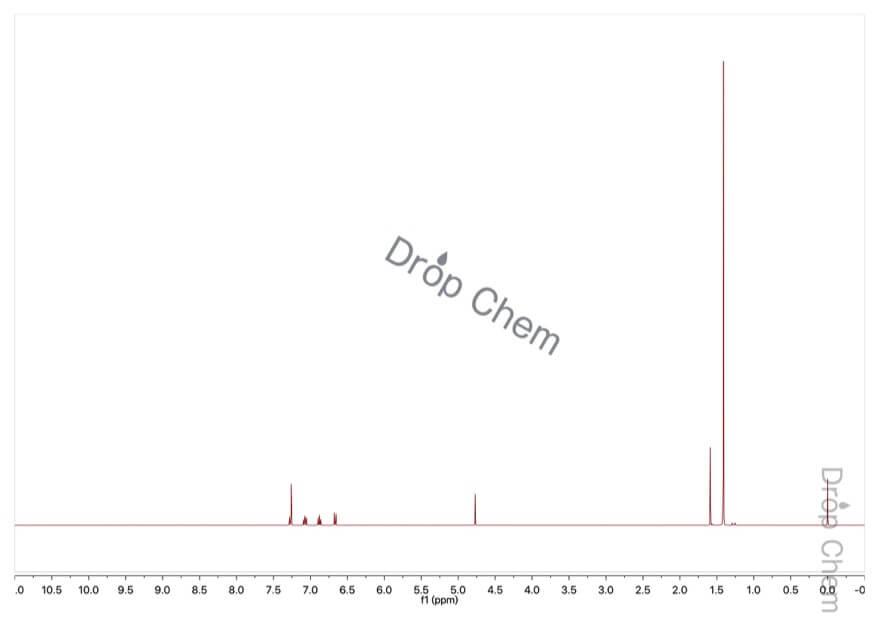 2-tert-ブチルフェノールの1HNMRスペクトル