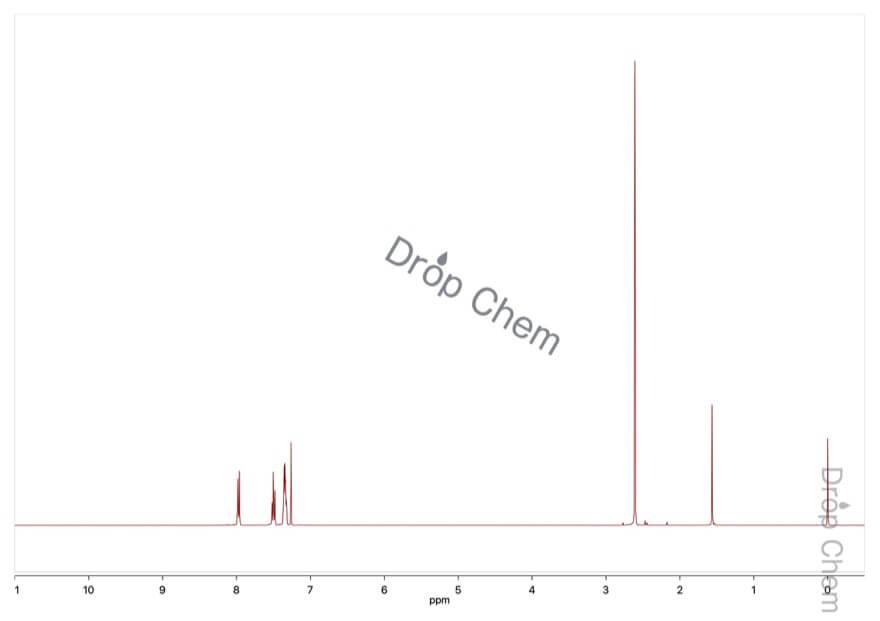 2-ニトロトルエンの1HNMRスペクトル