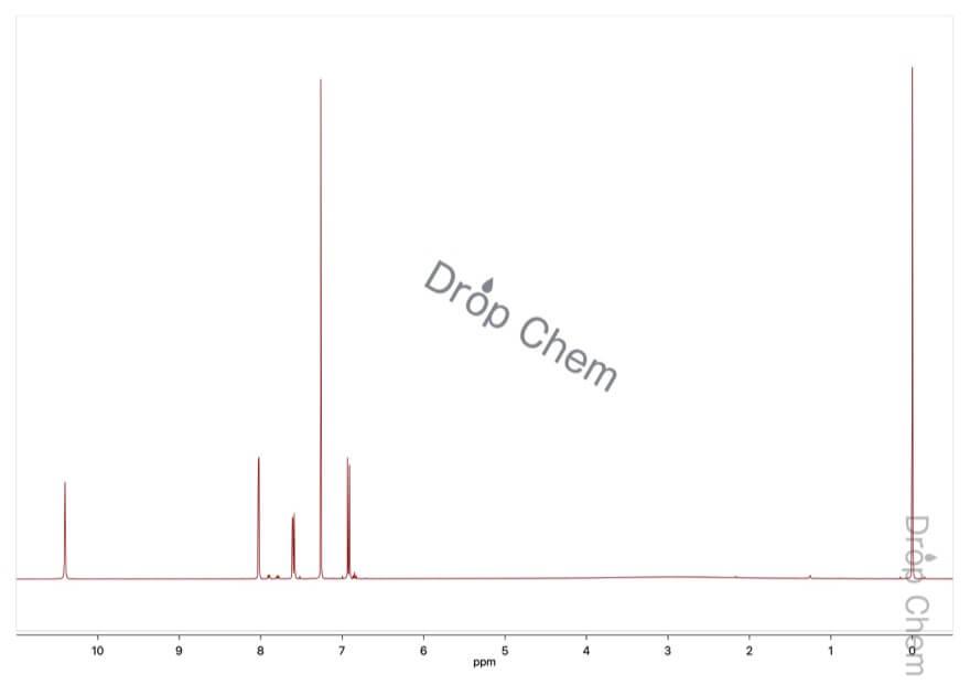 5-ブロモサリチル酸の1HNMRスペクトル