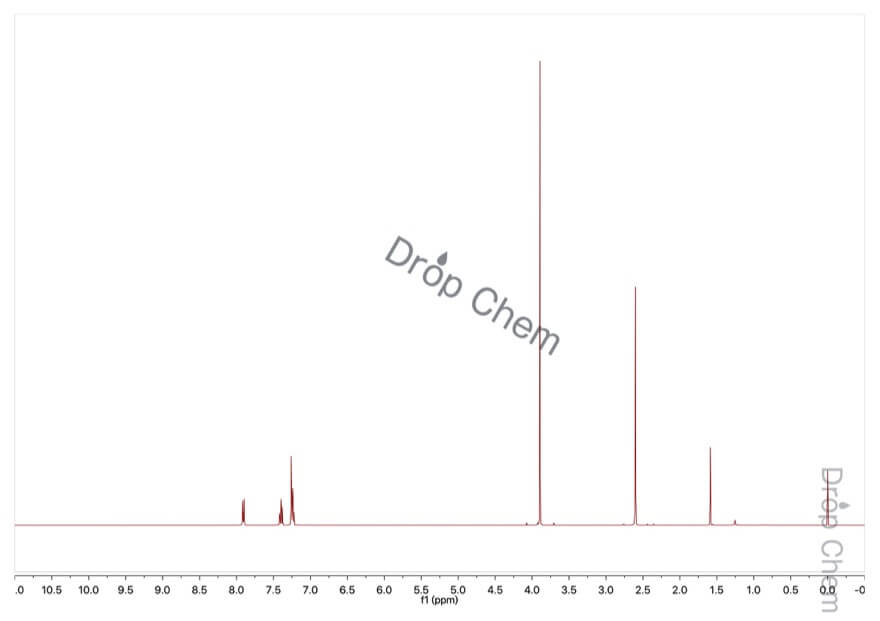 o-トルイル酸メチルの1HNMRスペクトル