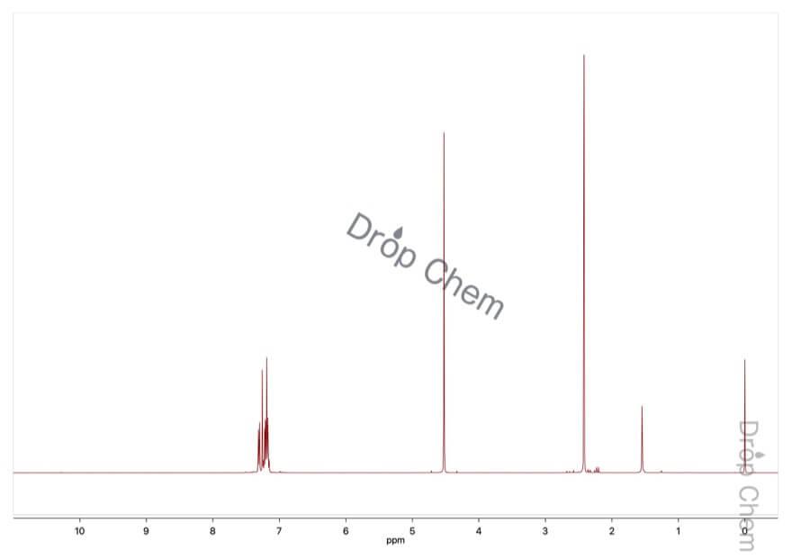α-ブロモ-o-キシレンの1HNMRスペクトル