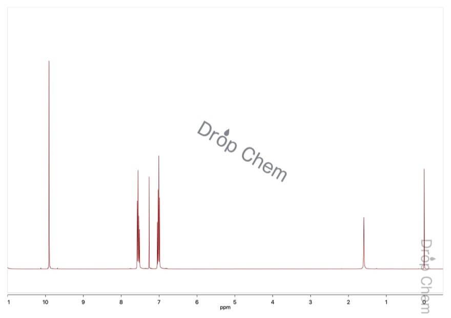 サリチルアルデヒドの1HNMRスペクトル