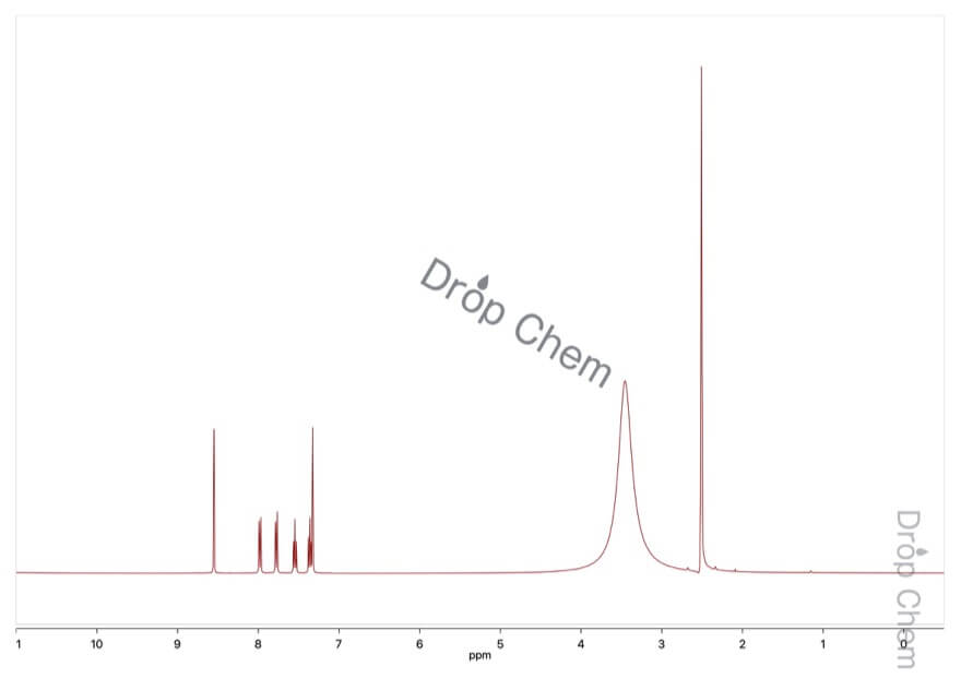 3-ヒドロキシ-2-ナフトエ酸の1HNMRスペクトル