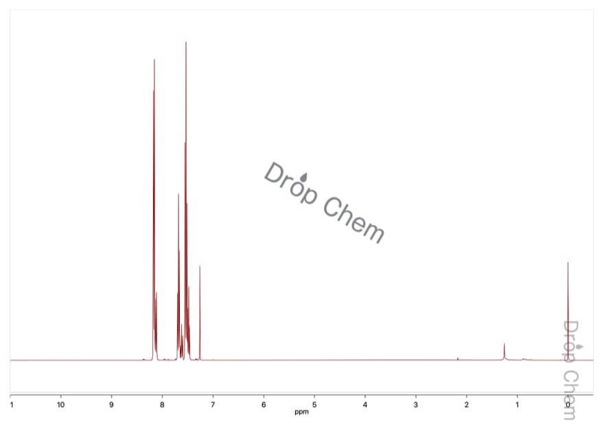 安息香酸無水物の1HNMRスペクトル