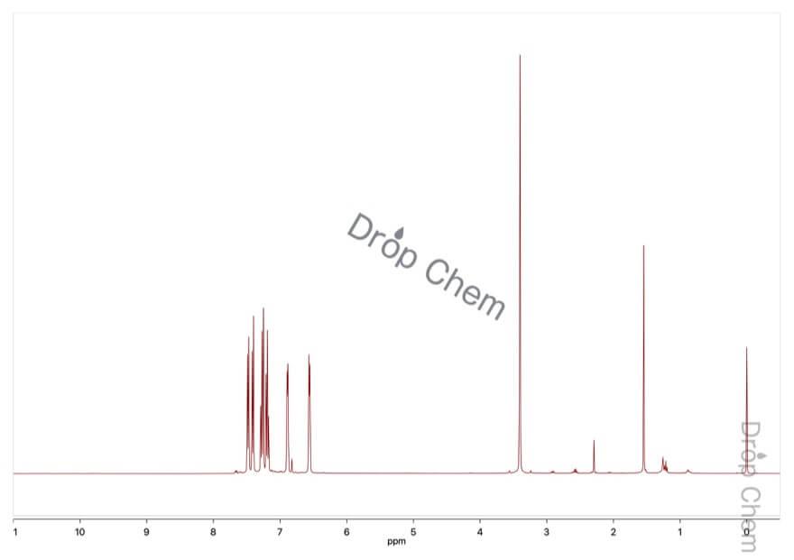 インデンの1HNMRスペクトル