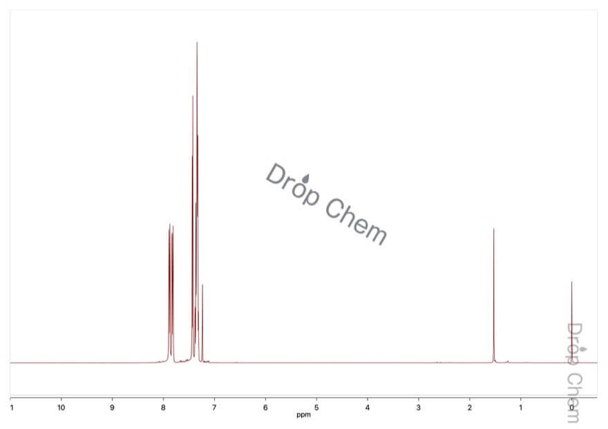 ベンゾ[b]チオフェンの1HNMRスペクトル