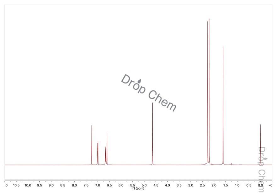 2,5-ジメチルフェノールの1HNMRスペクトル