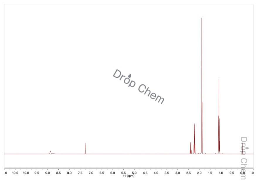 2-ブタノンオキシムの1HNMRスペクトル
