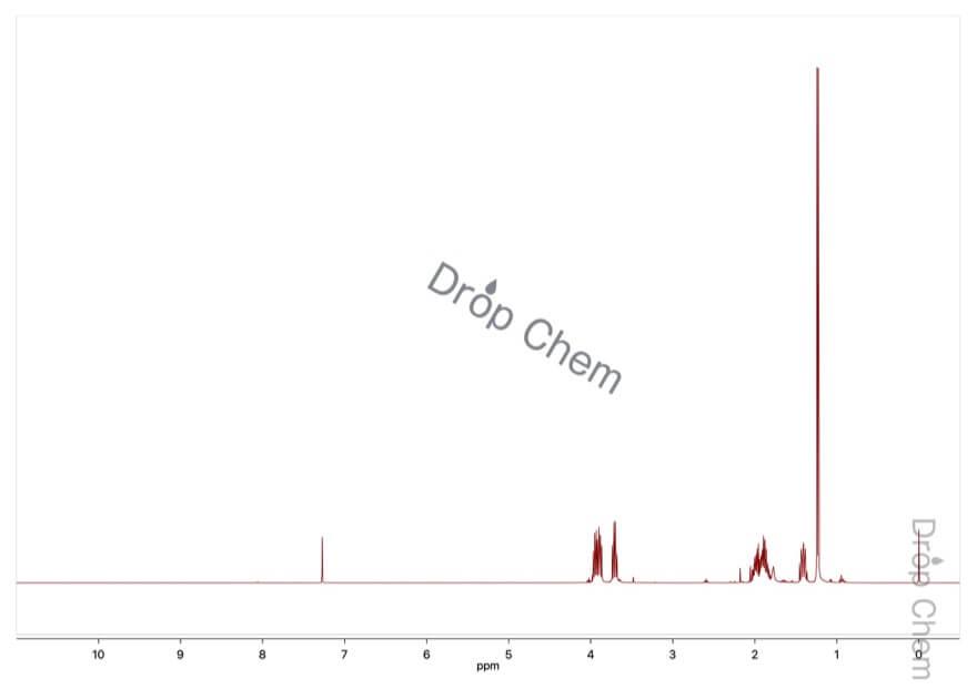 2-メチルテトラヒドロフランの1HNMRスペクトル
