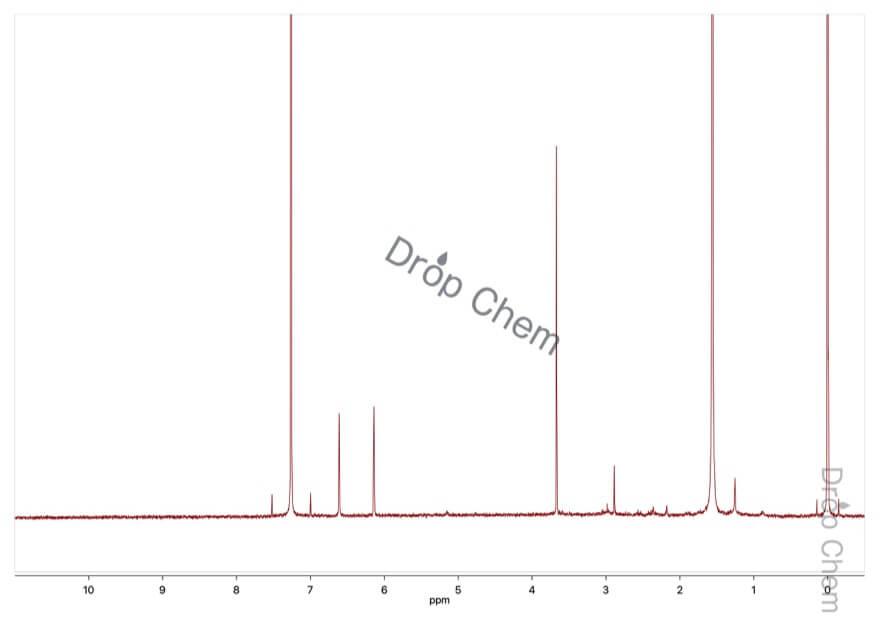 1-メチルピロールの1HNMRスペクトル