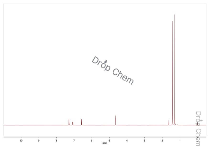2,4-ジ-tert-ブチルフェノールの1HNMRスペクトル