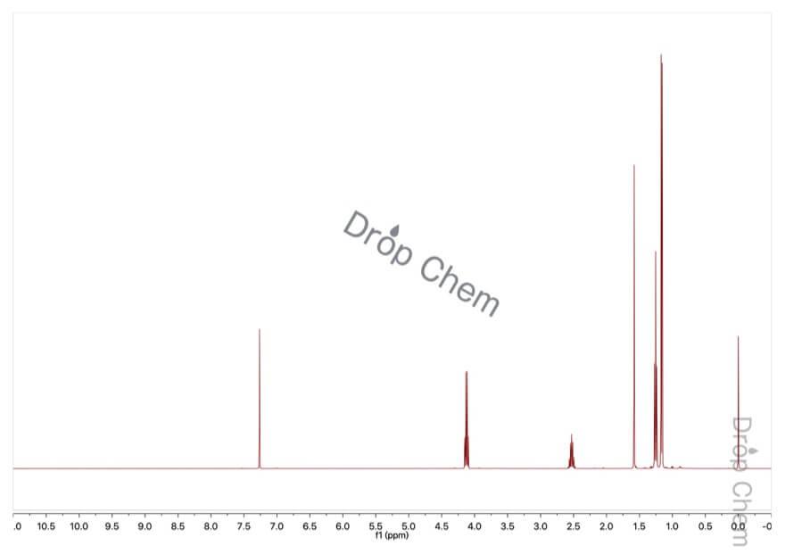 イソ酪酸エチルの1HNMRスペクトル
