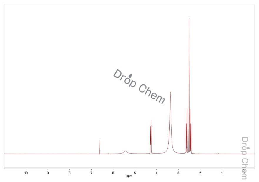 L-(-)-リンゴ酸の1HNMRスペクトル