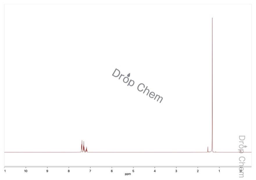 tert-ブチルベンゼンの1HNMRスペクトル