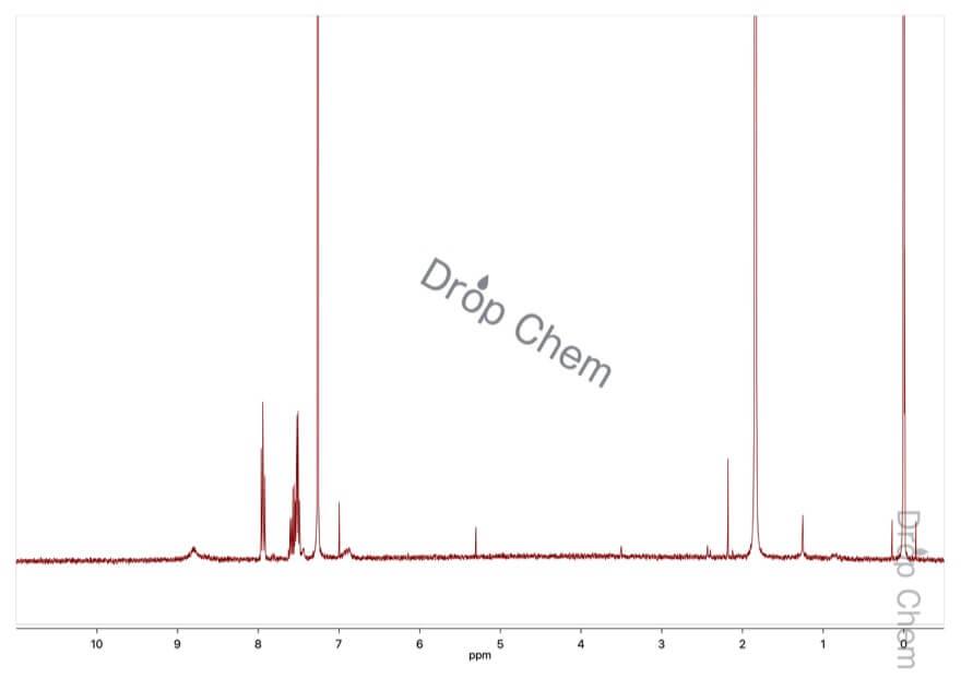 ベンゼンスルホン酸の1HNMRスペクトル(CDCl3)
