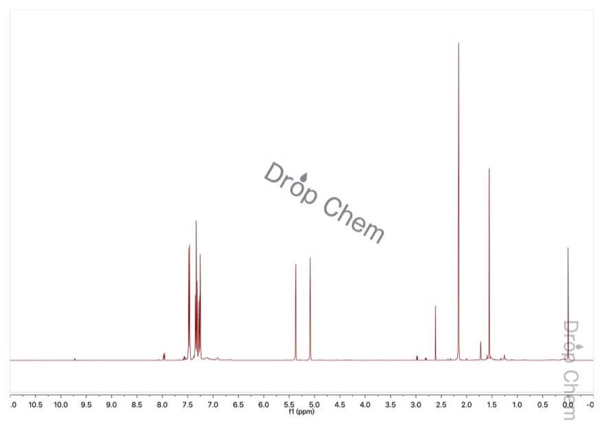 α-メチルスチレンの1HNMRスペクトル