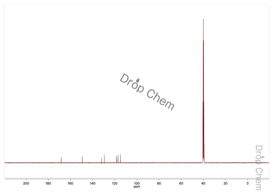 3-アミノ安息香酸の13CNMRスペクトル