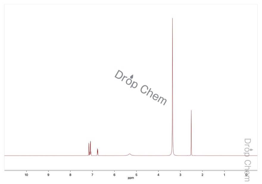 3-アミノ安息香酸の1HNMRスペクトル
