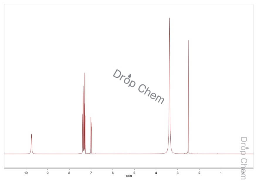 3-ヒドロキシ安息香酸の1HNMRスペクトル