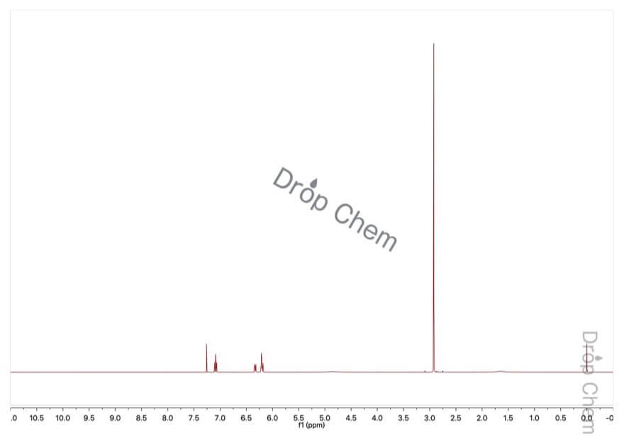3-(ジメチルアミノ)フェノールの1HNMRスペクトル