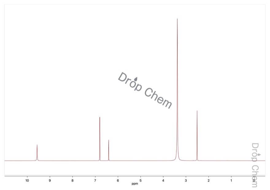 3,5-ジヒドロキシ安息香酸の1HNMRスペクトル