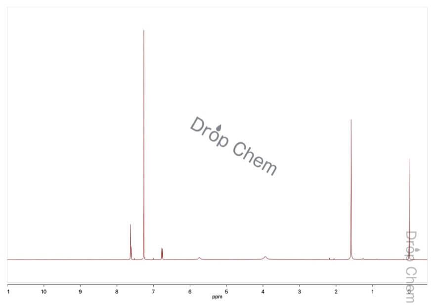 2-アミノ-4-ニトロフェノールの1HNMRスペクトル(CDCl3)