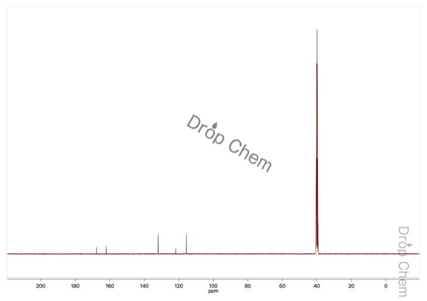4-ヒドロキシ安息香酸の13CNMRスペクトル