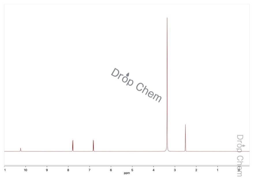 4-ヒドロキシ安息香酸の1HNMRスペクトル
