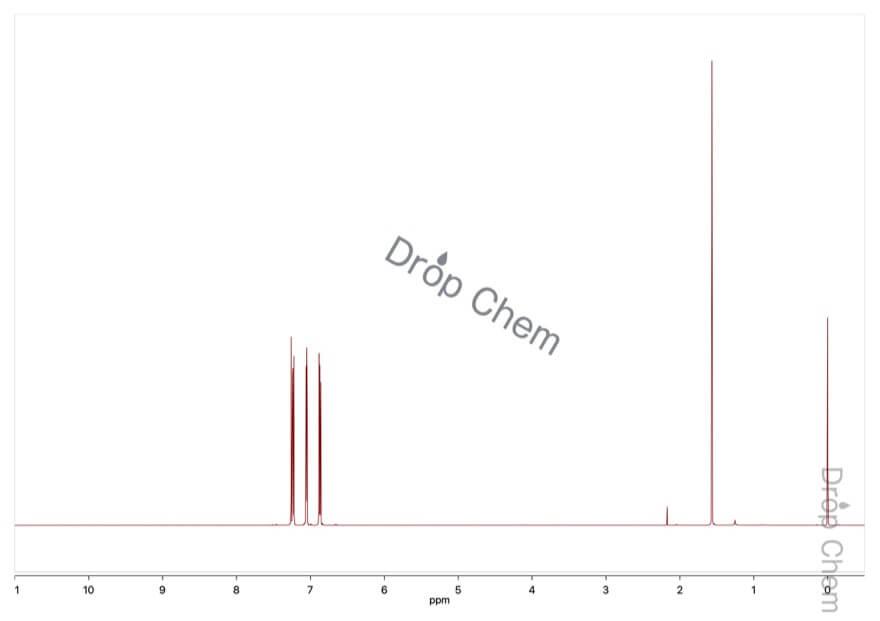 2-ブロモチオフェンの1HNMRスペクトル
