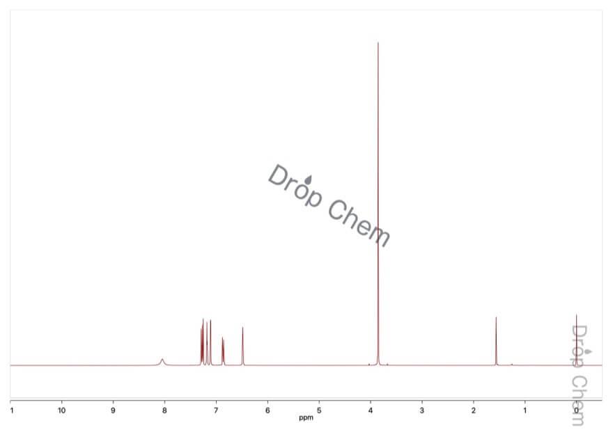 5-メトキシインドールの1HNMRスペクトル