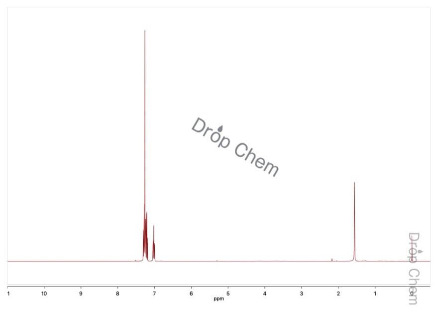 3-ブロモフルオロベンゼンの1HNMRスペクトル